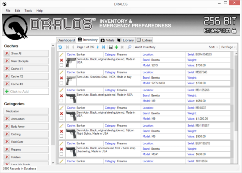 Inventory Software for Preppers – DRALOS™ - Prepare for Anything