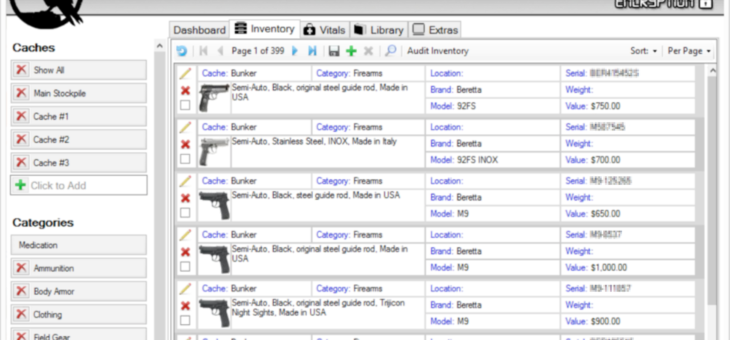 Inventory Software for Preppers